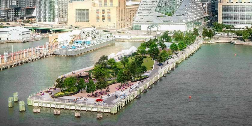 На Гудзоне в Нью-Йорке построят общественный парк Pier 97