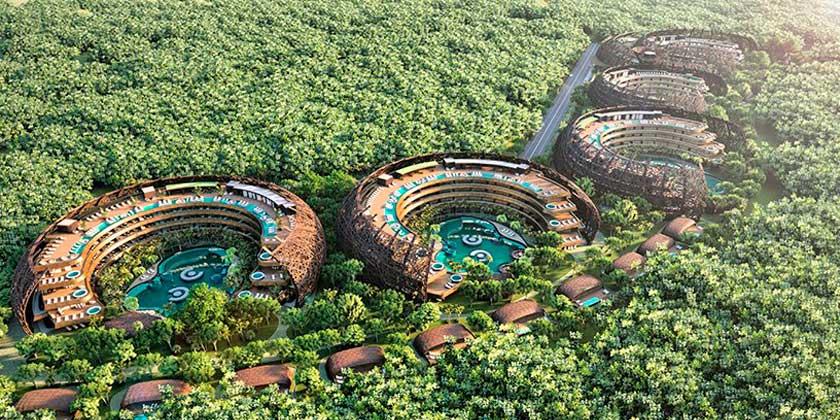 DNA представила проект эко-курорта и отеля Cocoon для Мексики