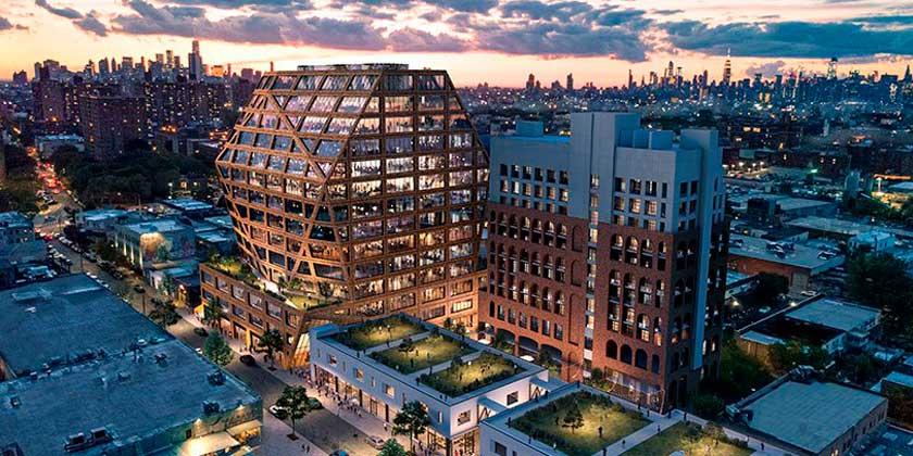 HWKN представила новый офисный кампус для Бруклина