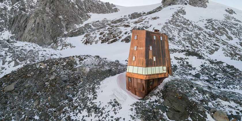 Высокогорное убежище в Итальянских Альпах от Stifter + Bachmann