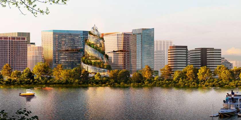 Представлена башня Helix от NBBJ: новая штаб-квартира Amazon