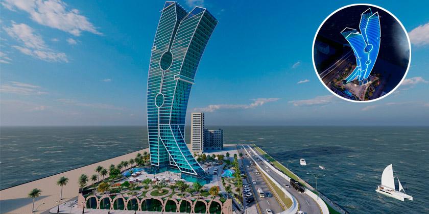 В Дубае построят небоскрёб Clothespin — произведение искусства