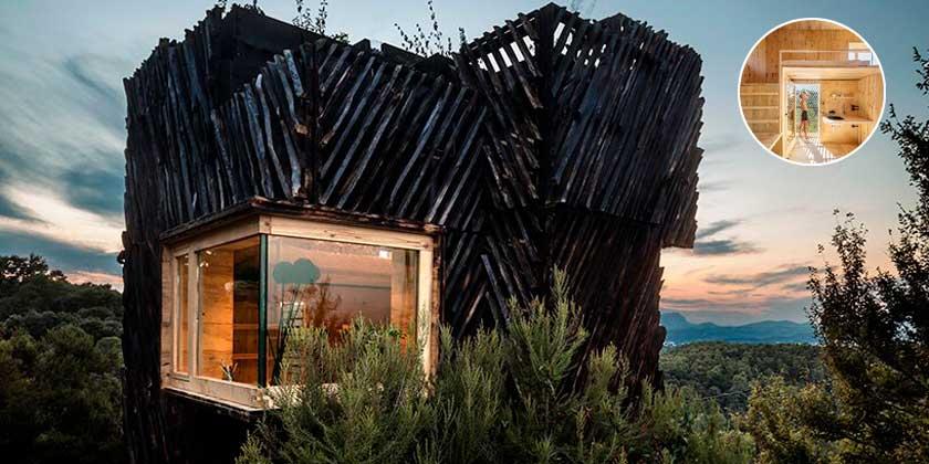 Аскетичный дом для самоизоляции от IAAC в Барселоне | фото