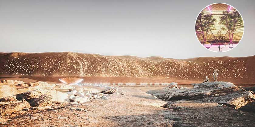 ABIBOO studio представила проект марсианского города