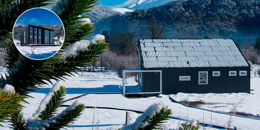 Минималистский дом в Андах от студии Demontaña