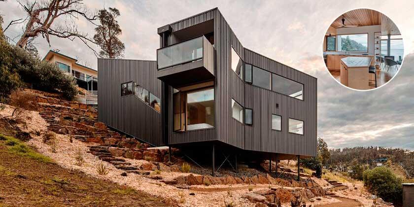 Y-образный пляжный дом в Австралии от Andrew Simpson Architects