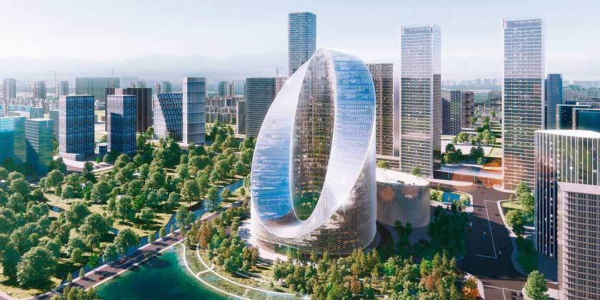 OPPO построит штаб-квартиру в Ханчжоу. Башня O-Tower | фото