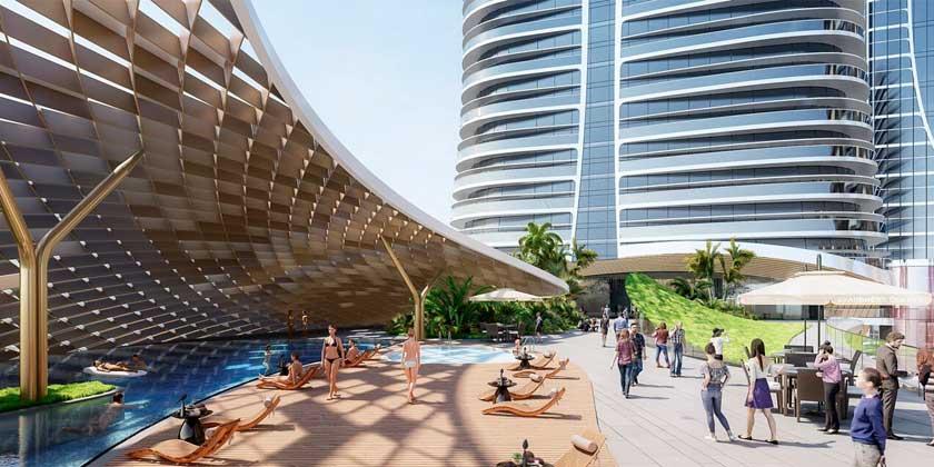 Aedas представила супер-небоскрёб для курорта в Китае