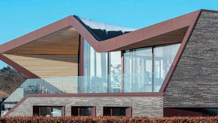 Дом с волнистой крышей в Дании от студии CEBRA