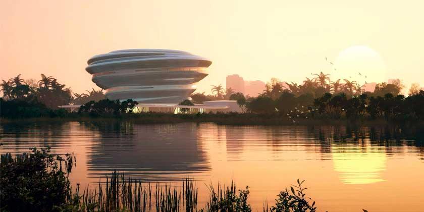 Студия MAD построит в Китае музей науки в виде облака