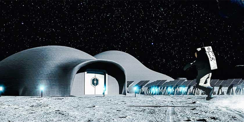 Показан новый проект футуристической базы на Луне